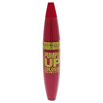 2a6b31840ee Amazon.com : Maybelline Volum Express Pumped Up! Colossal Mascara, No. 217  Glam Black, 0.32 Ounce : Beauty