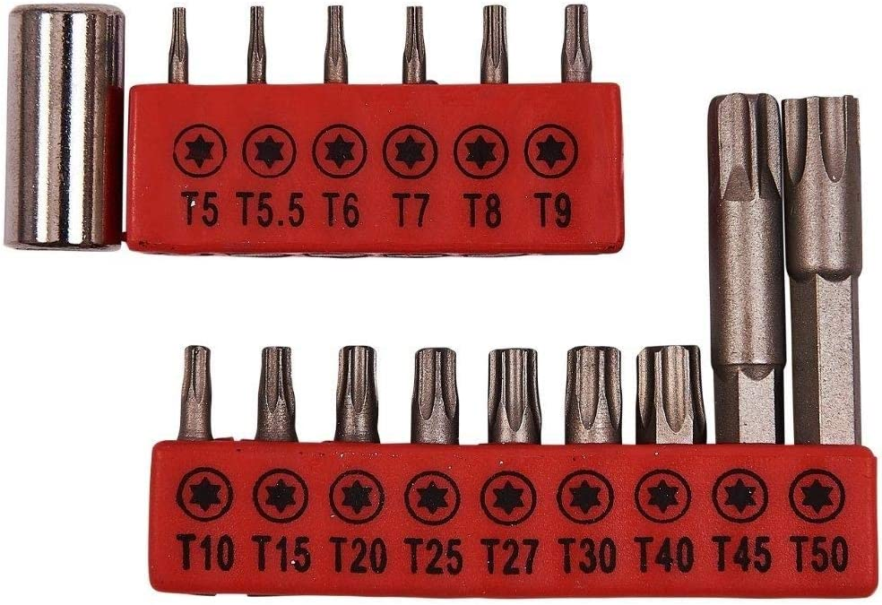7 Piece Security Torx Bit Set T7 - T25