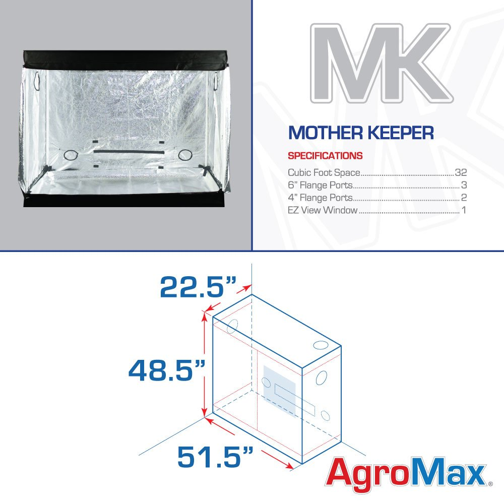 Amazon.com  AgroMax Mother Keeper 51.5 x22.5 x48.5  Professional Grow Tent  Garden u0026 Outdoor  sc 1 st  Amazon.com & Amazon.com : AgroMax Mother Keeper 51.5