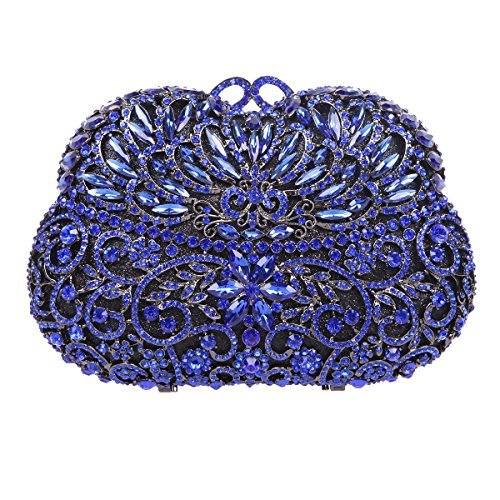 Bonjanvye Crystal Clutch Bags For Womens Purses And Handbags For Weddings Jaune fumé bleu Sy8UyHj