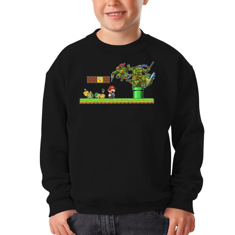OKIWOKI Sudadera Niño Negra Las Tortugas Ninja - Super Mario ...