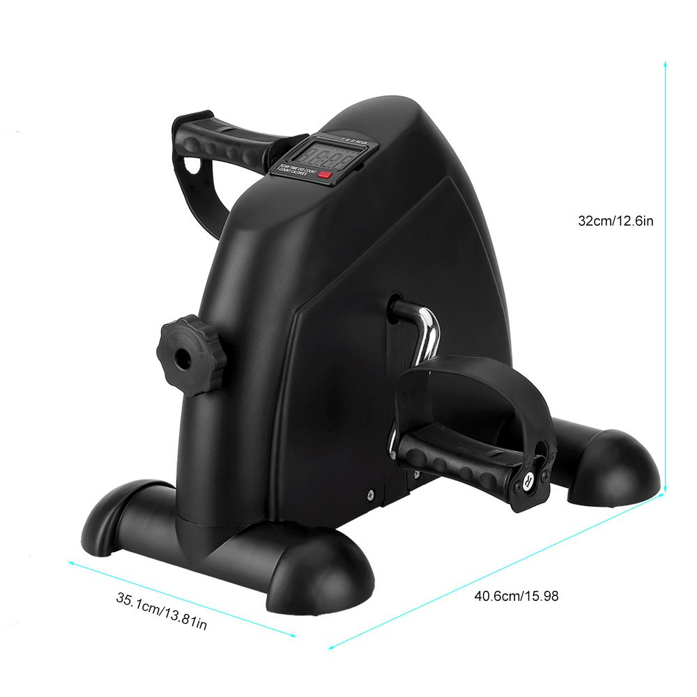 Mini Exercise Bike, Under Desk Bike Pedal Exerciser Portable Foot Cycle Arm & Leg Peddler Machine with LCD Screen Displays by HIMALY (Image #7)