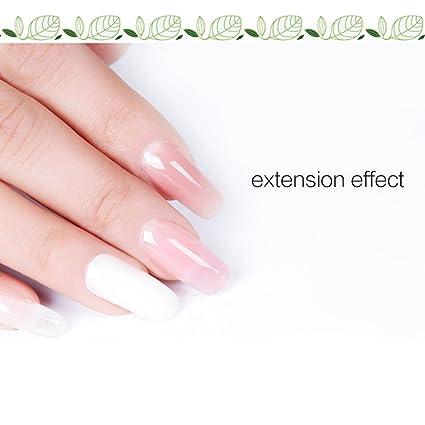 Surenhap Kit de Esmaltes de Uñas Semipermanentes para Regalo de Uñas de Gel de Colores - Poly Gel + Nail Liquid + Modelo Nail Tips + Dual Head Nail Brush + ...