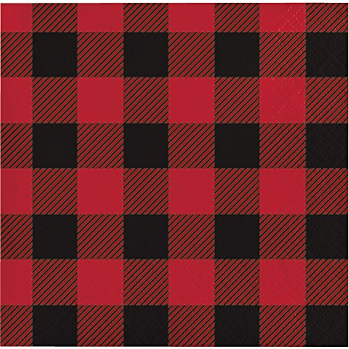 Creative Converting Buffalo Plaid Beverage Napkins Party Supplies, -