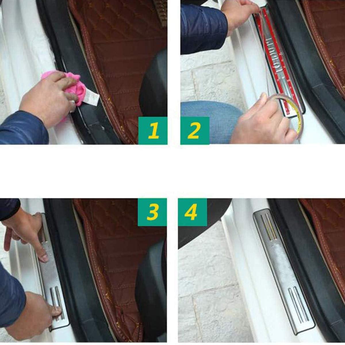 Garde-Plaque de seuil de Porte Accessoire de d/écoration de Style plaques de Protection 4 pi/èces Barres De Seuil De Porte en Acier Inoxydable pour Toyota RAV4 2013 2014 2015-2020