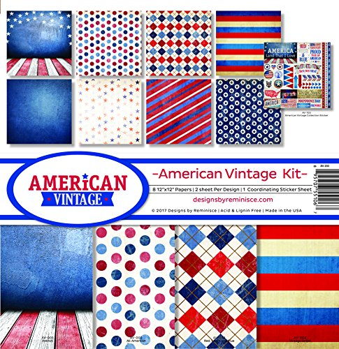 Reminisce American Vintage Scrapbook Collection Kit by Reminisce