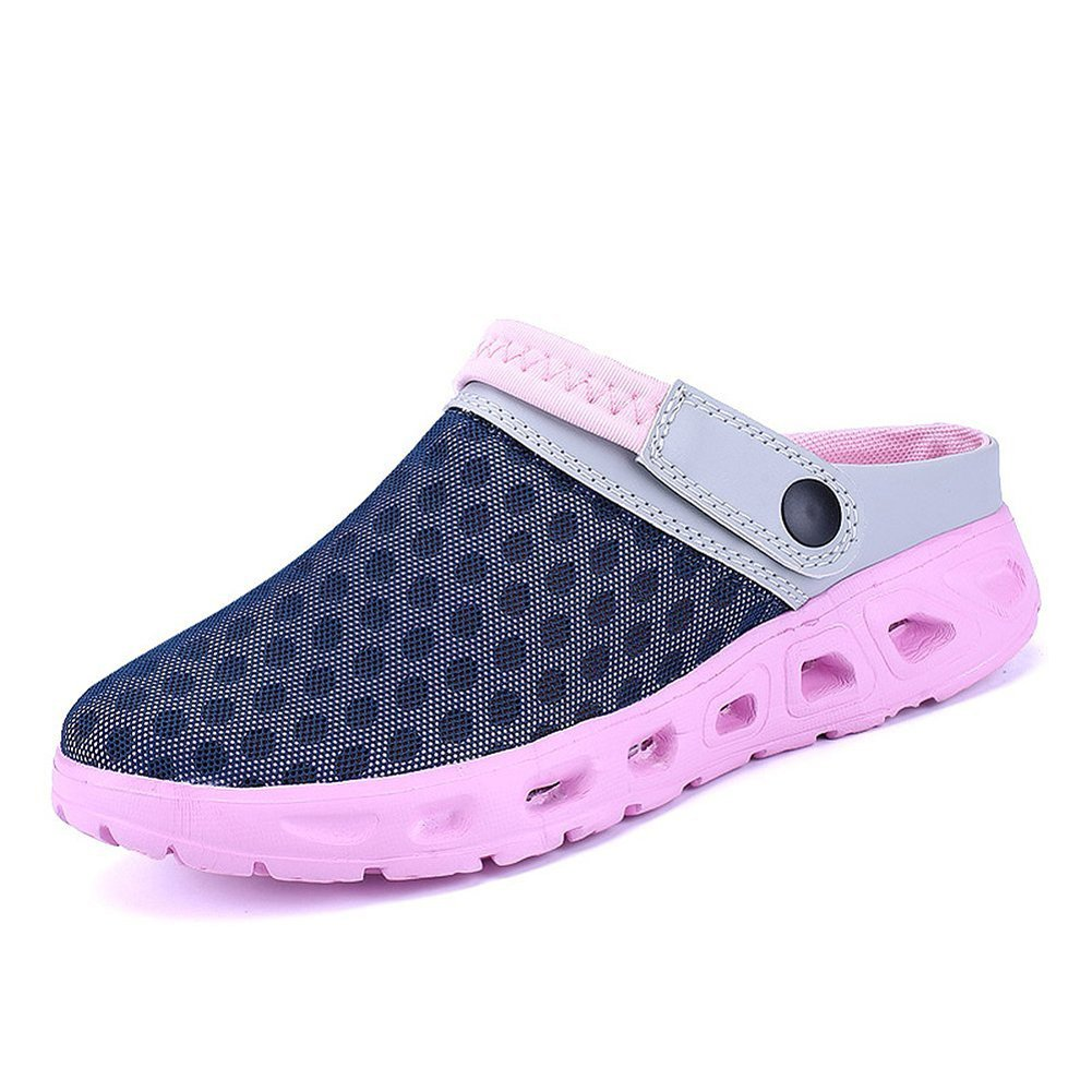 CCZZ Men's and Women's Summer Breathable Mesh Beach Sandals Slippers Quick Drying Water Shoes Amphibious Slip On Garden Shoes B07BW2PTM1 US 8=EU 38|Pink