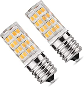 E17 LED Bulb,Microwave Oven Light Dimmable 5 Watt Warm White 3000K 52X2835SMD AC110-130V (Pack of 2)