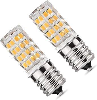 Bombilla LED E17, luz de horno para microondas, 5 W, luz blanca ...