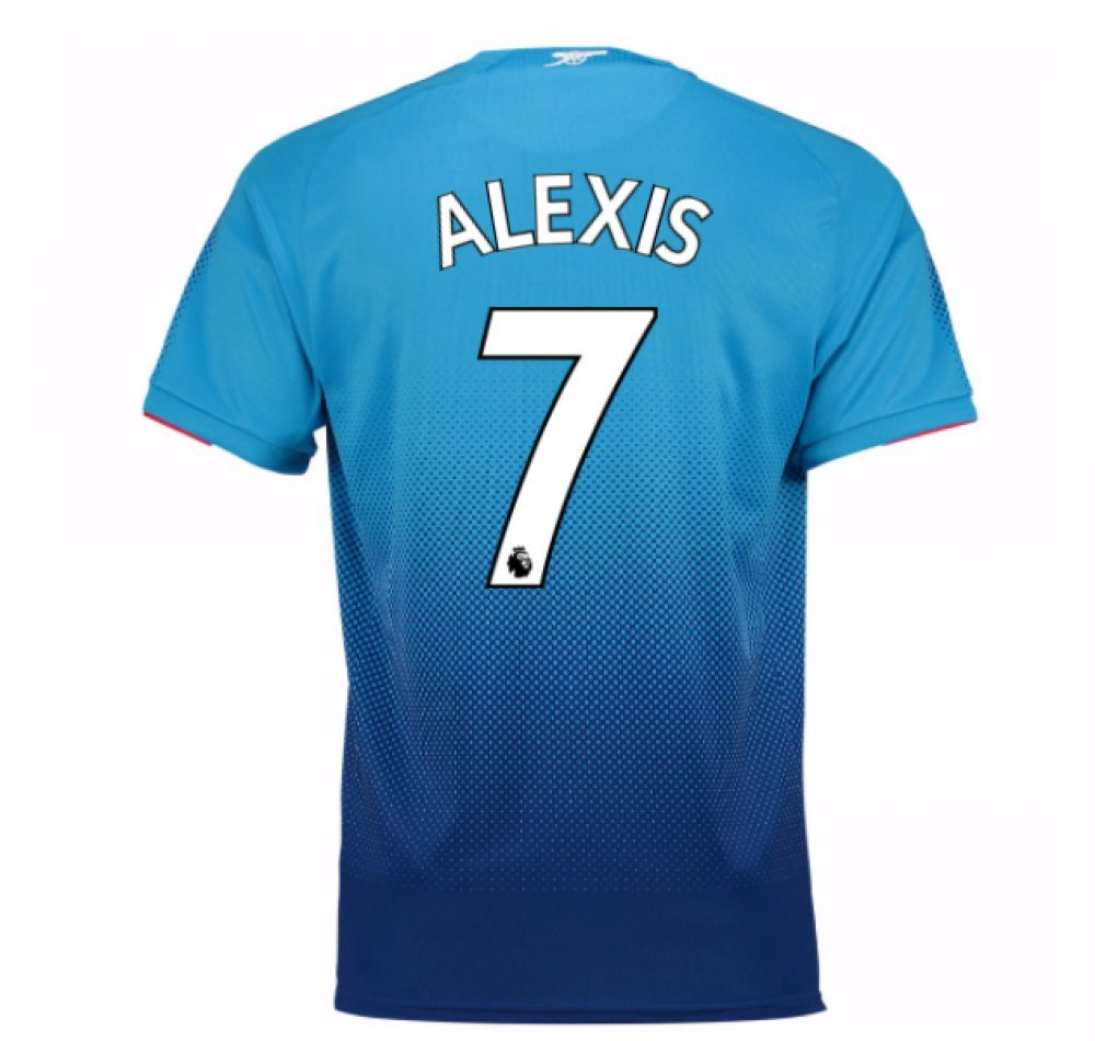 2017-2018 Arsenal Away Football Soccer T-Shirt Trikot (Alexis Sanchez 7) - Kids