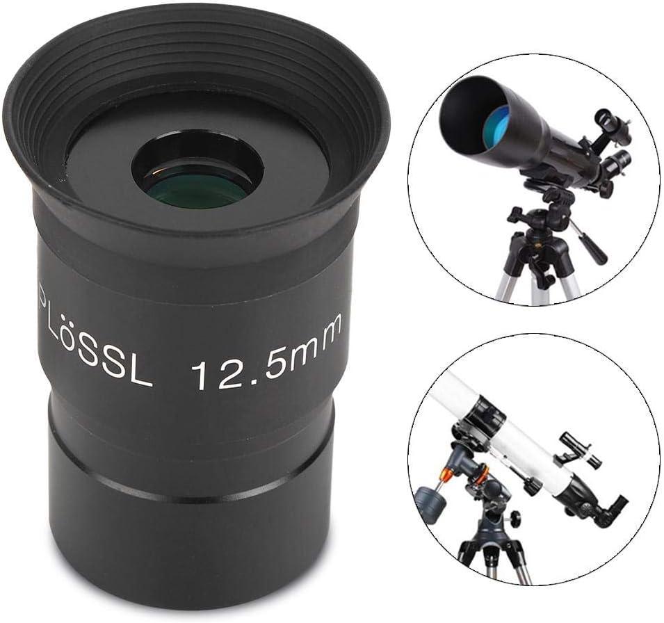Bindpo Ocular telesc/ópico Ocular HD Plossl de 12,5 mm 1,25 Pulgadas Lente PL de Vidrio /óptico Totalmente Recubierto para telescopio astron/ómico