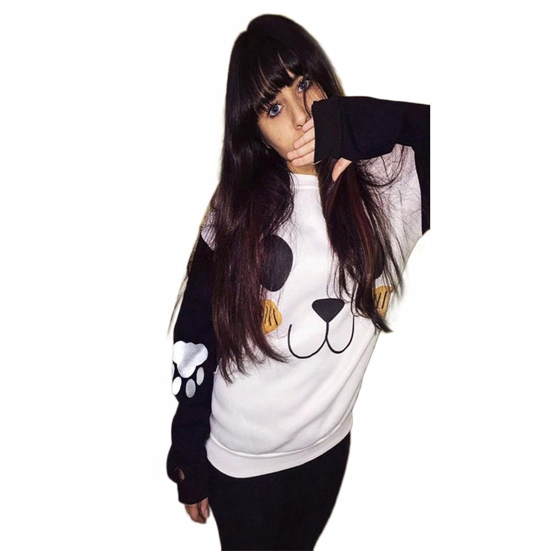 HN Women Printing Long Sleeve Sweatshirts Shirt Blouse Tops