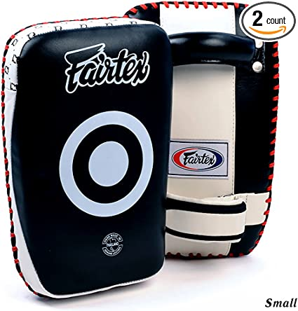 THAI MMA K1 TRAINING KPLC 1 PAIR 4 SIZE FAIRTEX CURVED KICK PADS BOXING MUAY