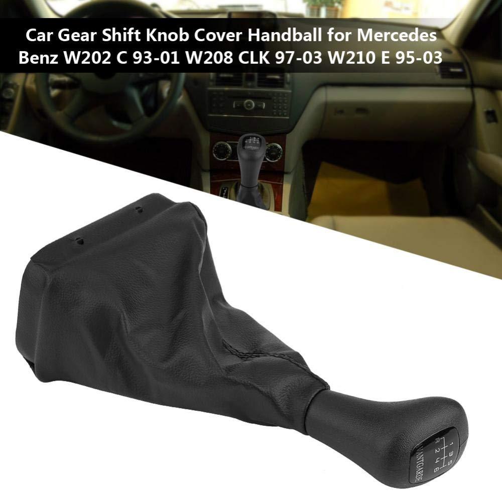 Handball de voiture Handball de couverture de bouton de changement de vitesse de voiture pour W202 C 93-01 W208 CLK 97-03 W210 E 95-03 5 Speed