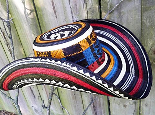 Coastal Sombrero Hat - Colombian Colored Hat Sombrero Sinuano 21 Vueltas Made By Colombian Artisans Highest Quality