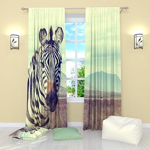 Factory4me Zebra Window Curtains