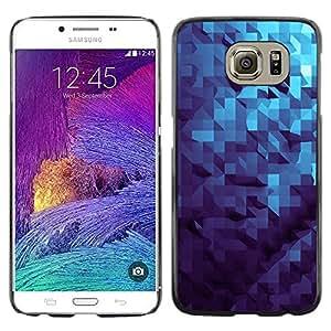 Patrš®n dimensional 3D Azul- Metal de aluminio y de plš¢stico duro Caja del telšŠfono - Negro - Samsung Galaxy S6