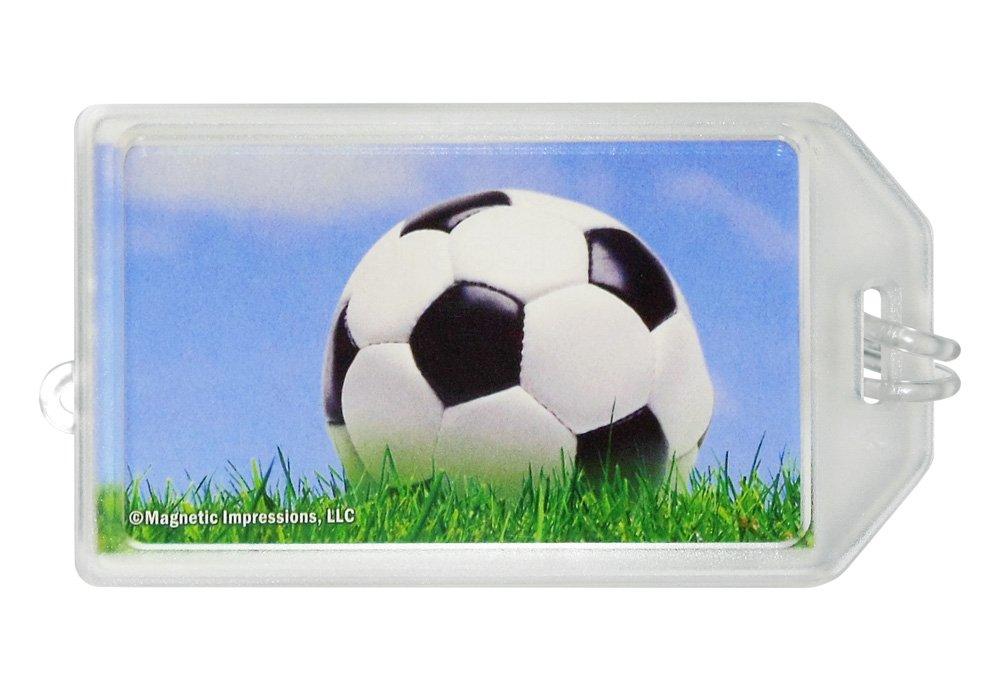 Soccer Ball Sky Photo Luggage Tag Set of 2