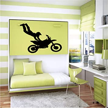 Vinilo Etiqueta de La Pared Arte Mural Bicicleta Chopper ...
