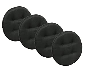 Klear Vu Omega Gripper Non-Slip Tufted Barstool Cushion Pad Set, 4 Pack, Midnight 4 Each