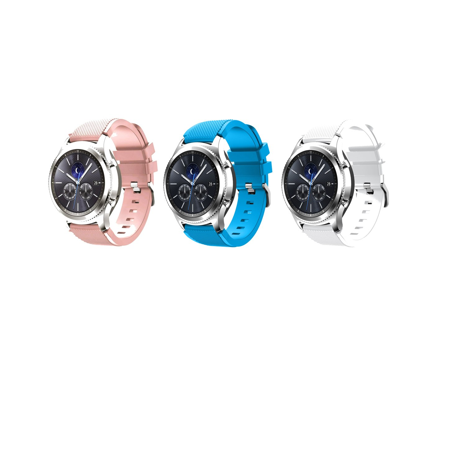 Tabcover Smart Watch Correa,3 Colors 22mm Soft Silicone ...