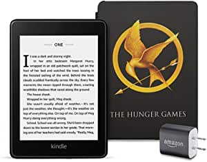 Kindle Paperwhite Bundle including Kindle Paperwhite - Wifi, Ad-Supported, Amazon exclusive The Ballad of Songbirds and Snakes Cover, and Power Adapter