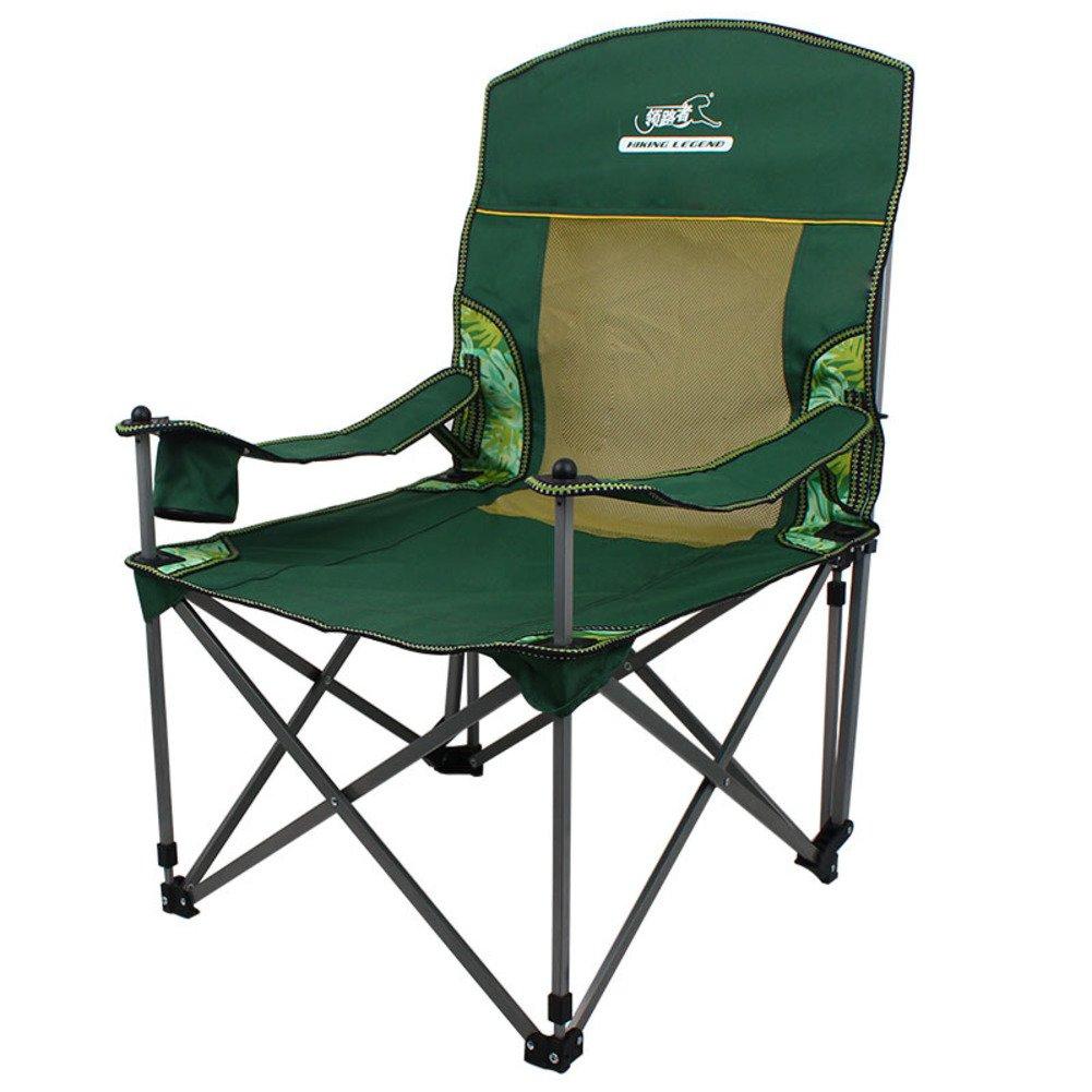 Be&xn Outdoor Pieghevole Sedia, Sedia reclinabile, Sedie a Sdraio Sedia a Sdraio Portatile Letti Ufficio Sedia da Pesca Duplice Uso-Verde W65xH70cm(26x28inch)