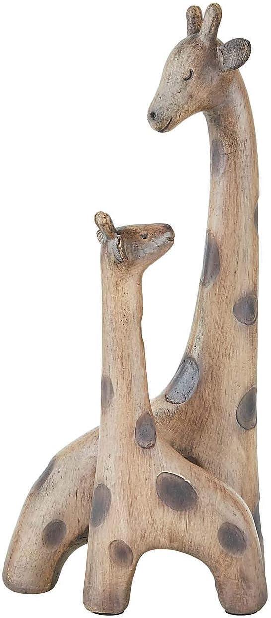 EEMKAY/® in materiale resistente per madre e bambino M-19 marrone splendida scultura in resina effetto legno
