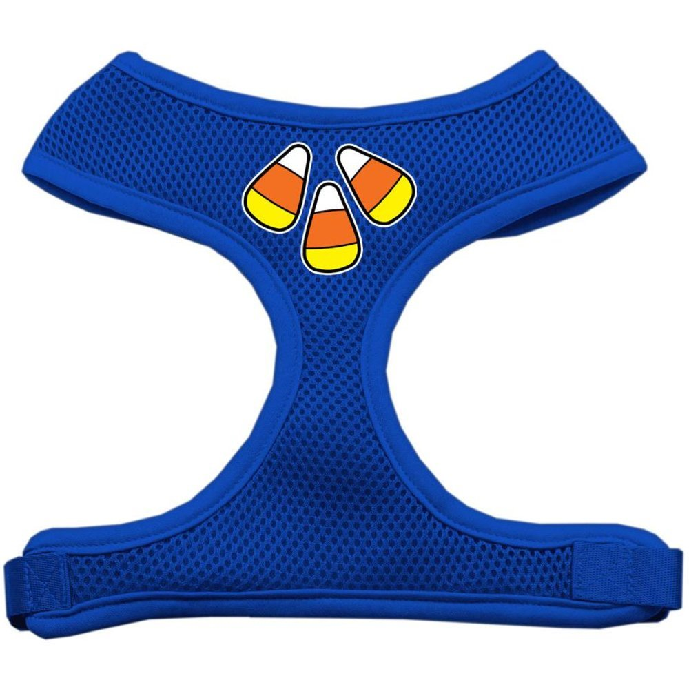 Mirage Pet Products Candy Corn Design Soft Mesh Dog Harnesses, Small, bluee