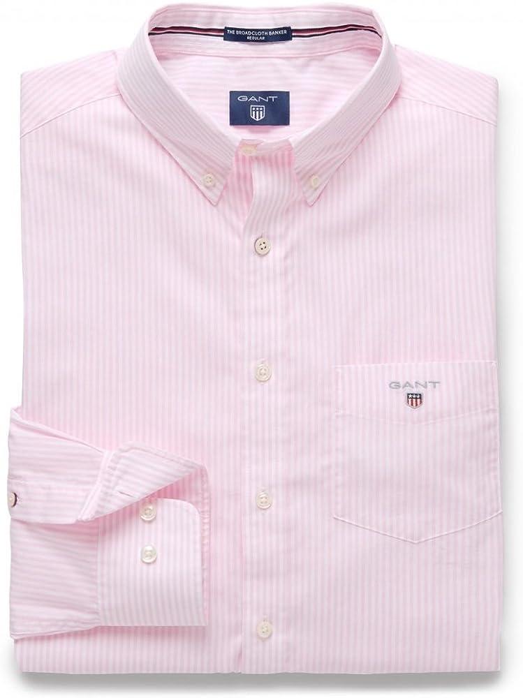 GANT The Poplin Banker Shirt Camisa para Hombre: Amazon.es: Ropa y accesorios