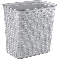 Sterilite Weave 13L Wastebasket - Cement