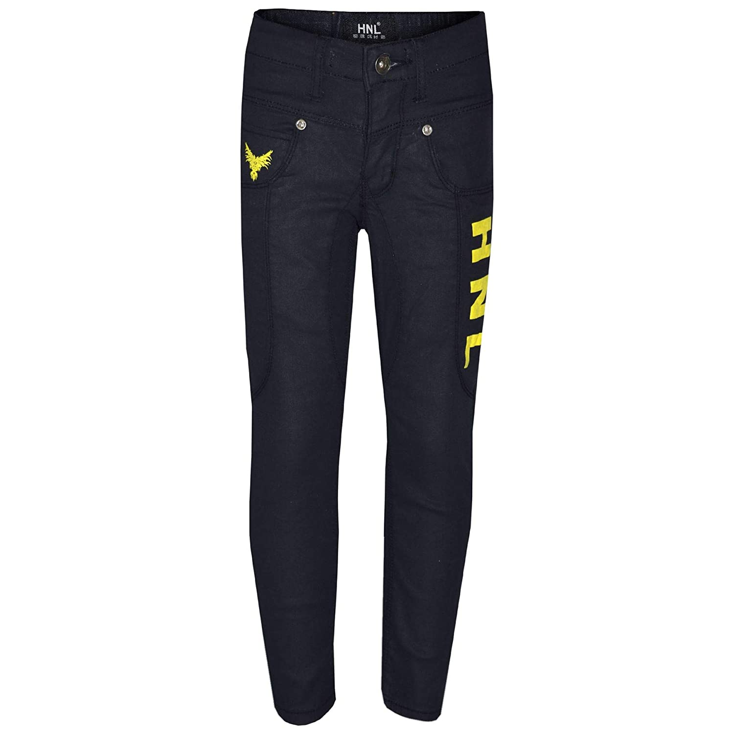 A2Z 4 Kids/® Kids Boys Stretchy Jeans Designers HNL Print Denim Skinny Pants Fashion Trousers Age 5 6 7 8 9 10 11 12 13 Years