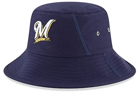20c6b7b06e3 Amazon.com   MLB Milwaukee Brewers 2016 Clubhouse Bucket Stretch Fit ...