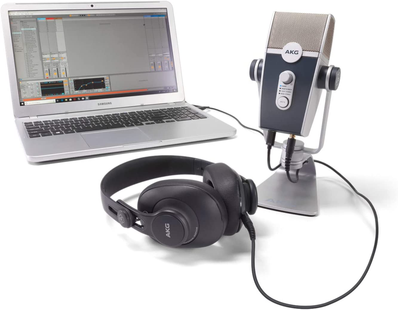 Amazon.com: AKG Lyra USB Microphone and AKG K371 Headphones with Knox 3.0 4  Port USB Hub Bundle (2 Items): Musical Instruments