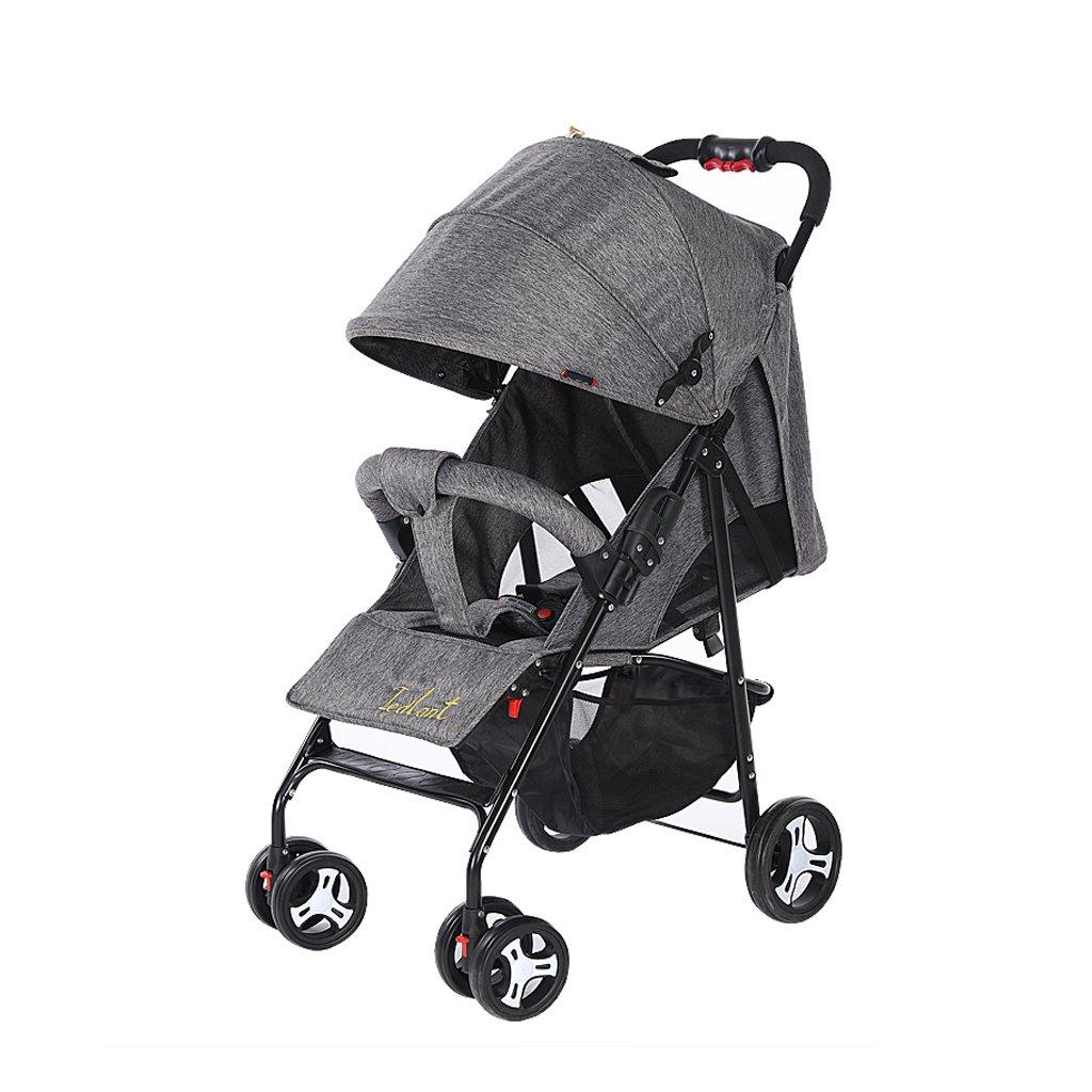 赤ちゃんのベビーカーは、超軽量のポータブル折りたたみ式ベビーベビーカー、青/緑/赤/グレー、64 * 102センチメートルに配置することができます ( Color : Gray ) B07BXHBZ5W