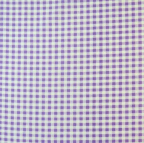 SheetWorld Crib / Toddler Sheet - Lavender Gingham Check ...