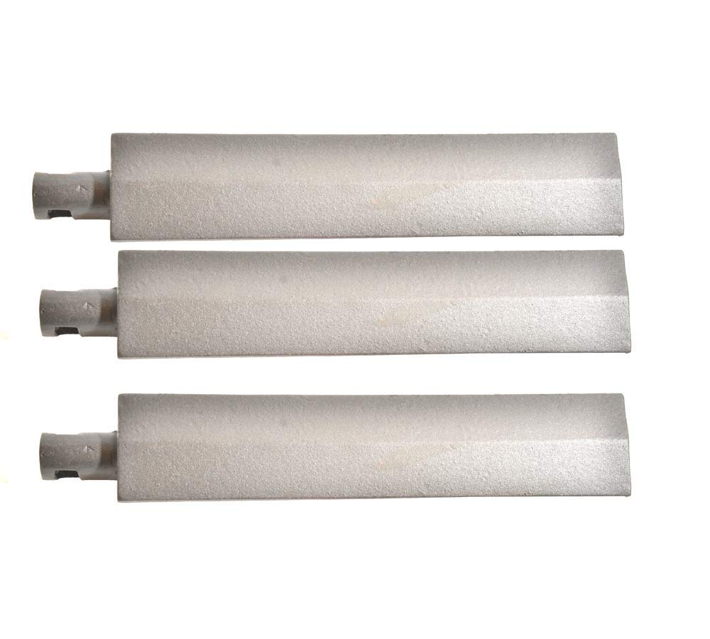 Grill Parts Zone Cal Flame, Beefeater, Flex Fire FLX3, FLX4R, FLX4RN, FLX5, FLX5R, Steele (All Modells) (3-PK) Cast Iron Burner
