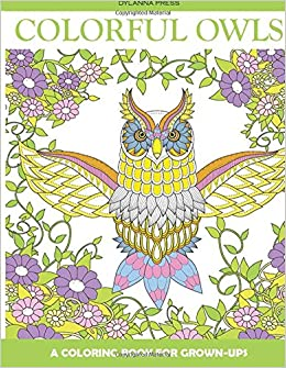 Amazon Colorful Owls Adult Coloring Book A For Grown