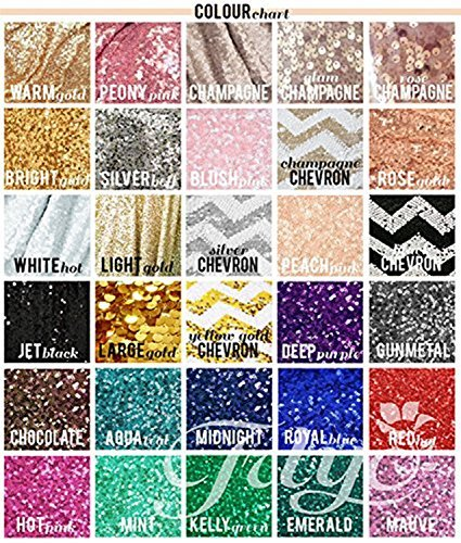 TRLYC 20PCS 12'' x 108'' Royal Sequin Table Runner, Rose Gold by TRLYC (Image #4)