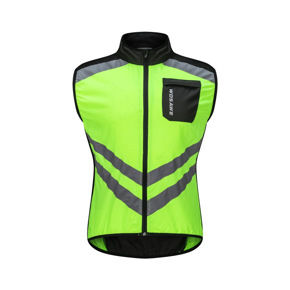 WOSAWE Cycling Vest Breathable Reflective Gilet Men Women Windproof  Sleeveless Jacket Safety for Motorbike 201a14f2b