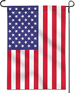 American USA Flag Garden Flags Doublesided- United State Yard Flags for Patio Garden Yard Fade Resistant 12.5 x 18 Inch