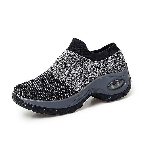 Zapatillas de Deporte Mujer Gimnasio Zapatos Running Deportivos Fitness Correr Transpirable Aumentar Más Altos Sneakers: Amazon.es: Zapatos y complementos