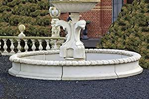 Brunnen macizos, Brunnen barrotes, piedra, el marco macizos Ø 350, antikfinish