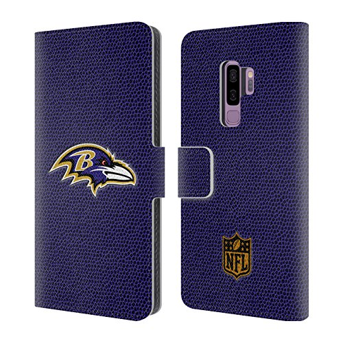 - Official NFL Football Baltimore Ravens Logo Leather Book Wallet Case Cover for Samsung Galaxy S9+ / S9 Plus