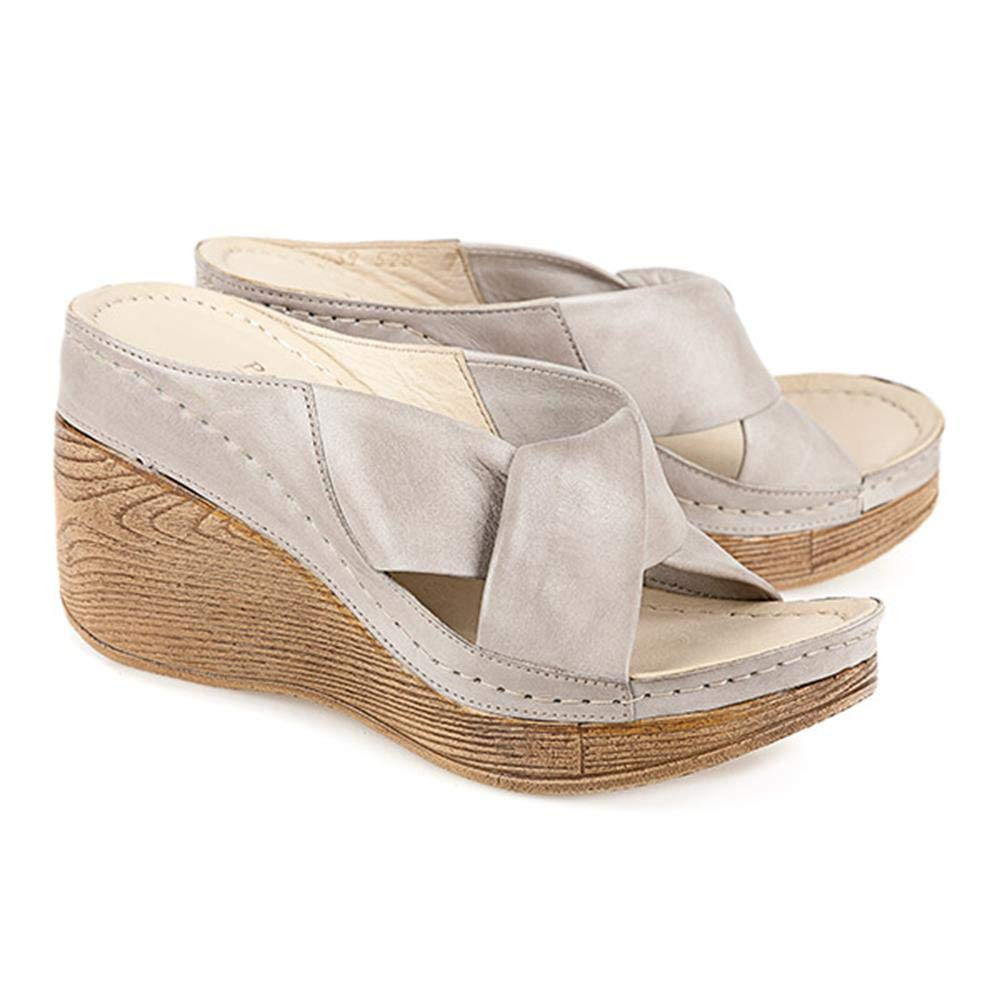6c75557be6c Pavers High Wedge Leather Mule with Twist Strap Upper 133 905 - Stone Size  10 UK  Amazon.co.uk  Shoes   Bags