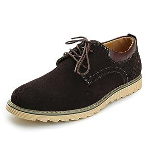 Alexis Leroy 2015 Men's Cow Suede Oxford Casual Oxford Shoes Brown 44 M EU / 10-10.5 D(M) US