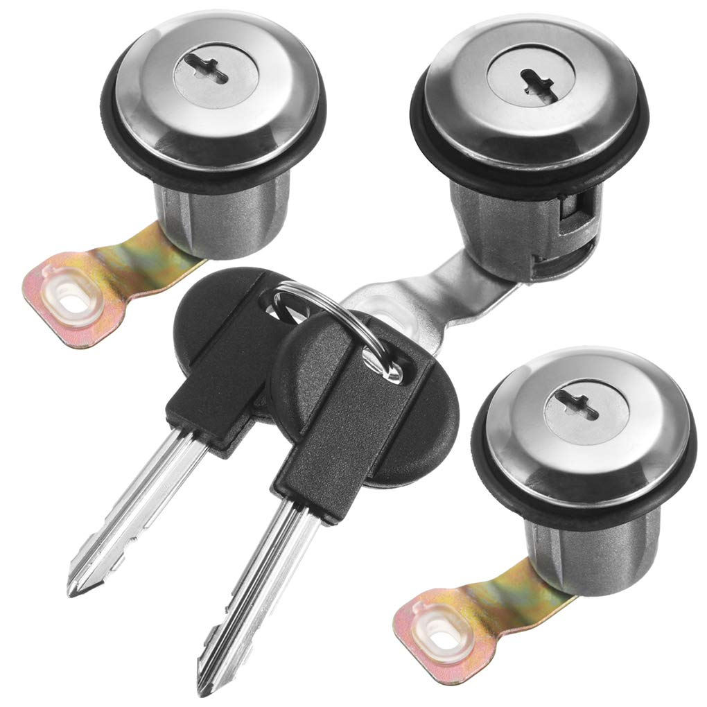 Bobury Barrel Lock Set Door Lock Set Compatibile per Peugeot Partner Xsara Citroen Berlingo 252522 9170.G3 9170.CW