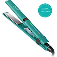 Entil Hair Straightener Flat Iron with Ceramic Titanium Plates & LCD Display