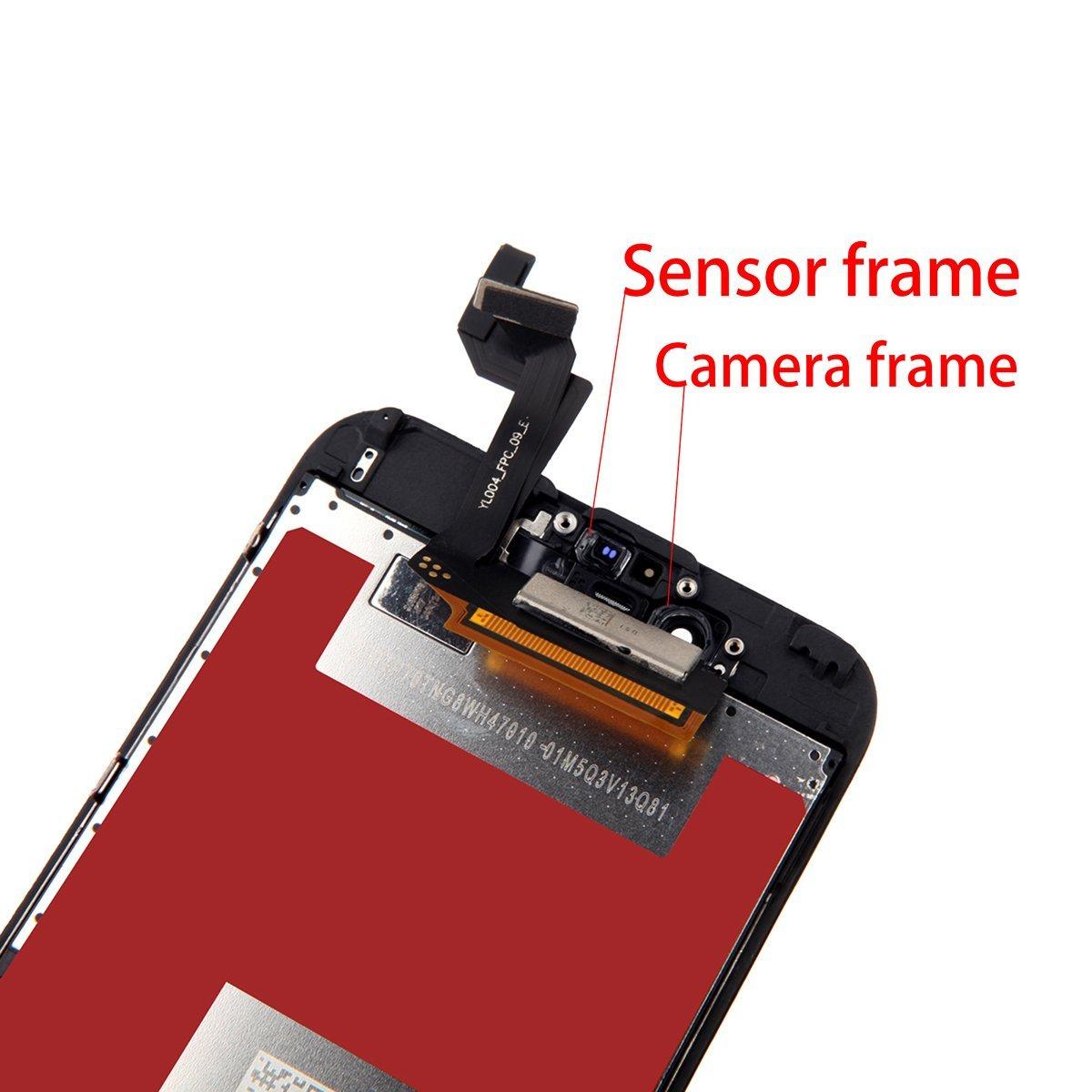 BBSELL LCD Pantalla Táctil Reemplazo De Marco Digital Un Conjunto Completo De Herramientas y Montaje Pantalla De Vidrio Protector Para IPhone 6S 4.7 ...