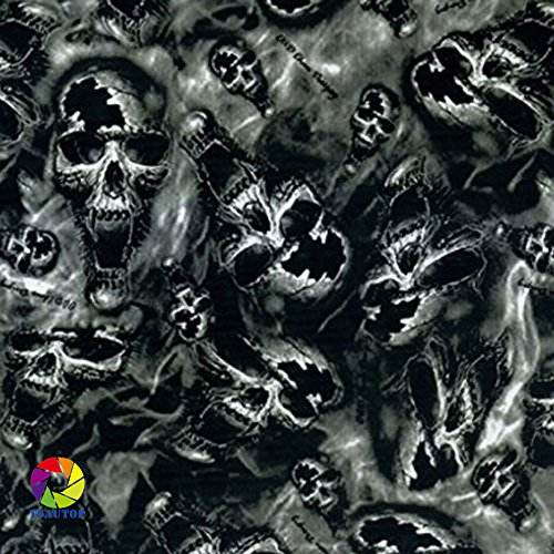 TSAUTOP Hydrographics Film - Water Transfer Printing Film Skull 10 ft Roll (Water Transfer Printing Machine compare prices)